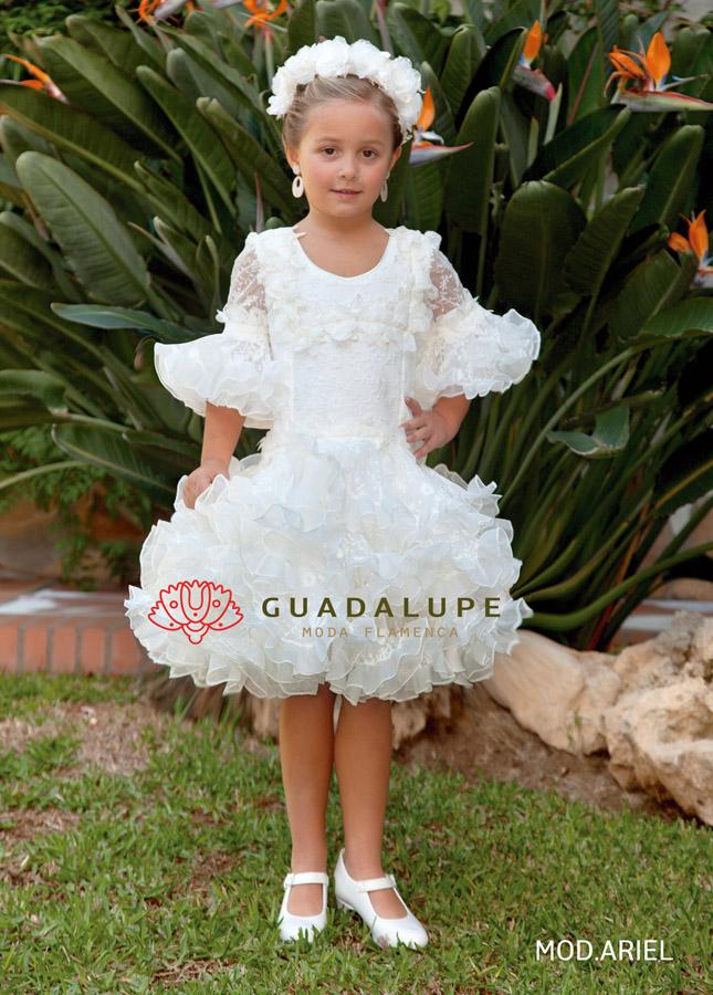 4444f741d Os presentamos la nueva colección de trajes de flamenca Guadalupe 2019 para  niñas. La firma Guadalupe moda flamenca